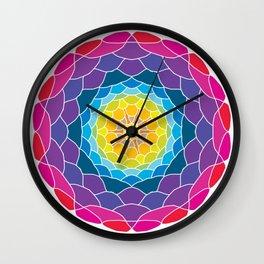 floral ornament. circular pattern Wall Clock