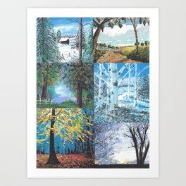 All Seasons Collage Art Print