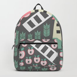 Windmill, apples and grains Backpack
