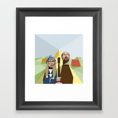 Nuts in May (West Country Gothic) Framed Art Print