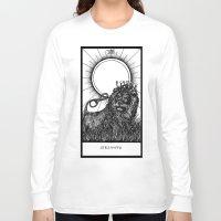 tarot Long Sleeve T-shirts featuring Strength Tarot by Corinne Elyse