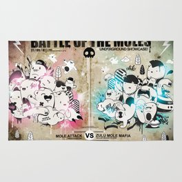 Battle of the moles Rug
