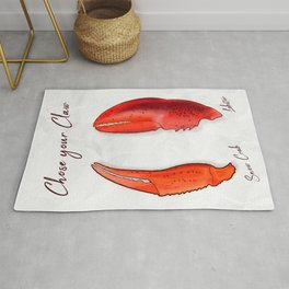 Chose your Claw, Crab vs Lobster Rug