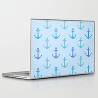 anchors Laptop & iPad Skins featuring Anchors by wensays