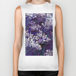 Bunches of Tiny Flowers Biker Tank