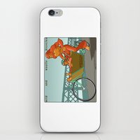 portlandia iPhone & iPod Skins featuring Sasquatch: Wild and Woolly Bicycles by Joseph Boquiren