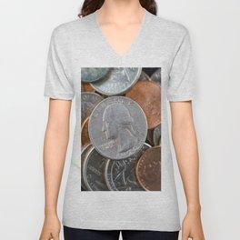 Coins Unisex V-Neck