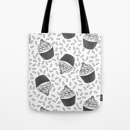 Coloring Book Cupcakes and Sprinkles Tote Bag