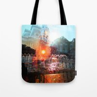 cities Tote Bags featuring cities by aerart