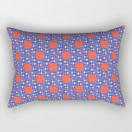 Harlequin on red background Rectangular Pillow