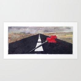 penna macchia Art Print