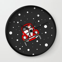 Santas Sleigh Is In The Shop Wall Clock