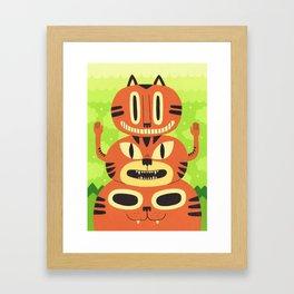 Totem Cat Framed Art Print