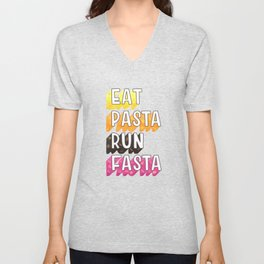 Eat Pasta typography Unisex V-Neck