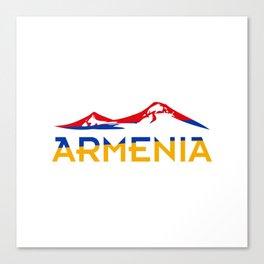 Armenia Ararat Hayastan flag #society6 #decor #buyart #artprint Canvas Print