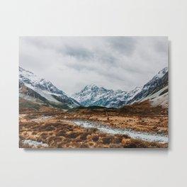 Mount Cook National Park Metal Print