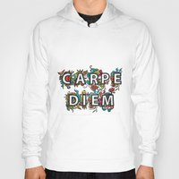 carpe diem Hoodies featuring Carpe Diem by Digi Treats 2