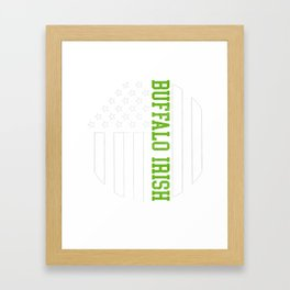 Buffalo Irish products by Howdy Swag print Framed Art Print