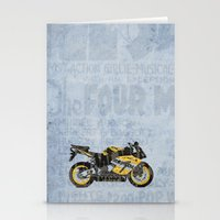 honda Stationery Cards featuring Honda CBR1000 & Old Newspapers by Larsson Stevensem
