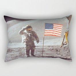 American Moon Landing Rectangular Pillow