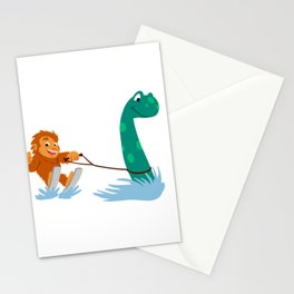 Bigfoot and  nessie Stationery Cards