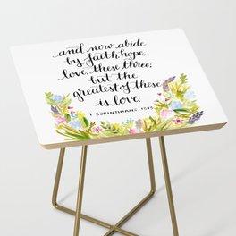 Abide By Faith Side Table