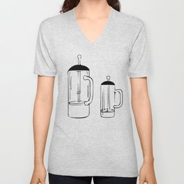 Coffee Tools: French press Unisex V-Neck