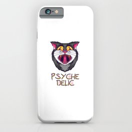 psychedelic cat - on LSD and ecstasy iPhone Case