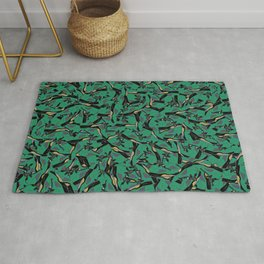 "Air Jordan 5 ""Oregon Green"" Collage Print Rug"