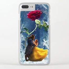 Beauty and the Beast-Rose Clear iPhone Case