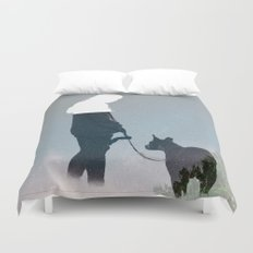 FRIENDSHIP in the space Duvet Cover