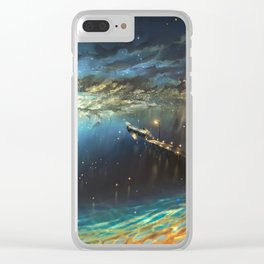 on shore of space Clear iPhone Case