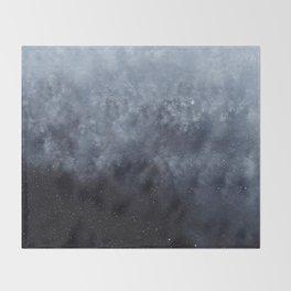 Blue veiled moon Throw Blanket