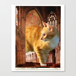 A knave in the nave Canvas Print