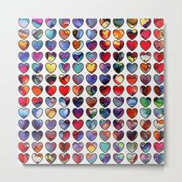 Painted Hearts Metal Print