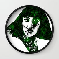 fringe Wall Clocks featuring fringe by fashionistheonlycure