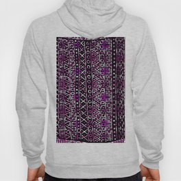 Abstract black pink hand painted geometrical aztec Hoody