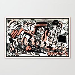 ORANGE IMPROVE Canvas Print
