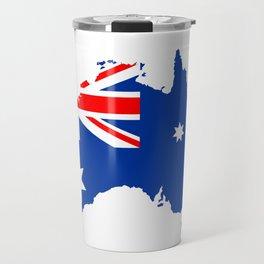 australia flag map Travel Mug