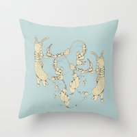bugs Throw Pillows featuring Bugs by Sushibird