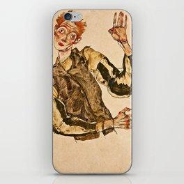 Egon Schiele - Self Portrait With Striped Armlets iPhone Skin