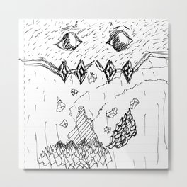 Adventure Island Monster Metal Print