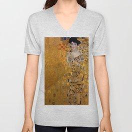Bloch Bauer by Gustav Klimt Unisex V-Neck