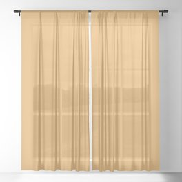 Peaceful Pastel Orange Yellow Solid Color Pairs To Sherwin Williams Yarrow SW 6669 Sheer Curtain