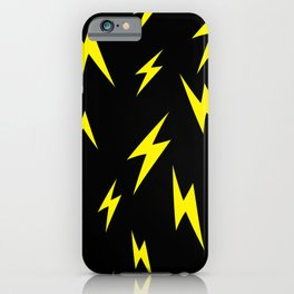 Lightning bolt pattern iPhone Case