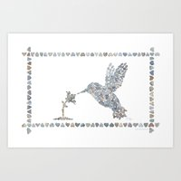 Hummingbird for laptop Art Print