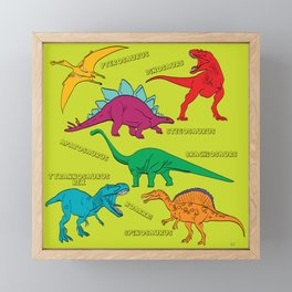 Dinosaur Print - Colors Framed Mini Art Print