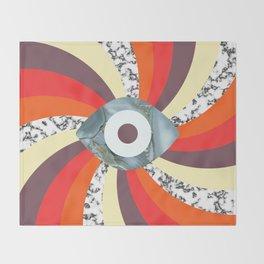 Hypno Retro Eye Throw Blanket