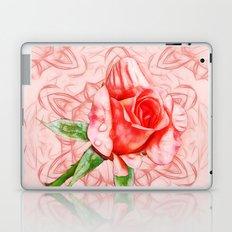Pink rose on elegant kaleidoscope Laptop & iPad Skin