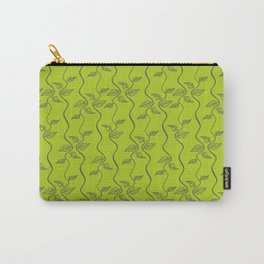 Bright green leaves pattern. Carry-All Pouch